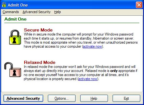 Enable and disable all Windows access password prompts with just one mouse click